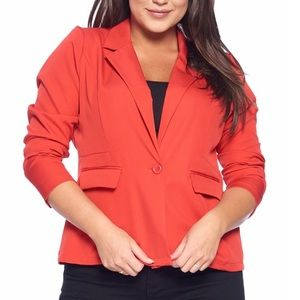 Jackets & Blazers - Plus Size Modern Single Breasted Blazer